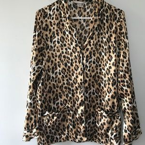 Victoria's Secret Animal Print Pajama Top Size S